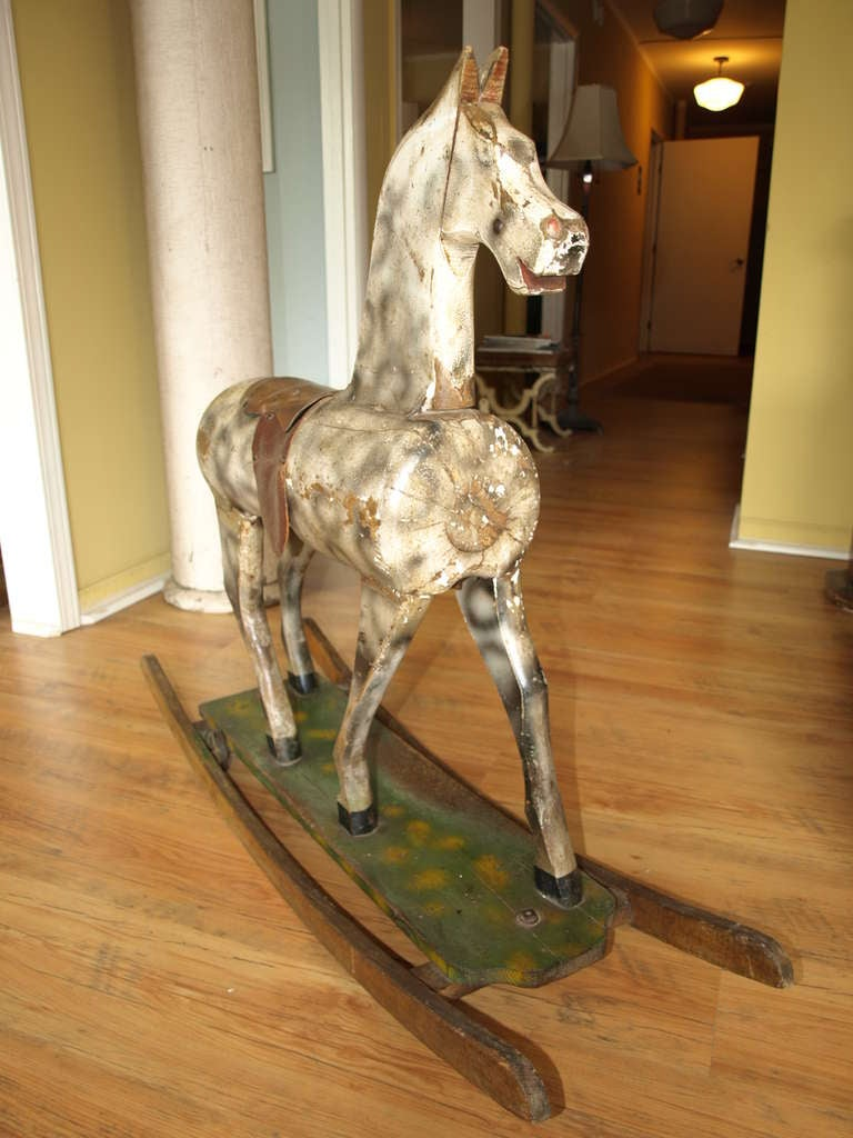 Vintage French Rocking Horse image 6