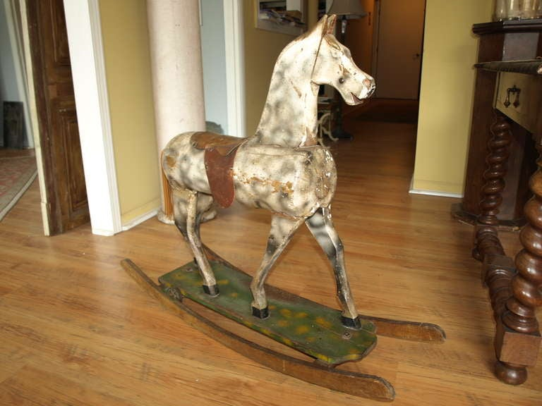 Vintage French Rocking Horse image 7