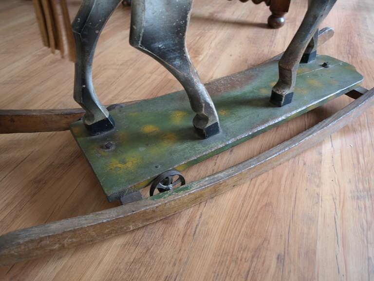 Vintage French Rocking Horse image 9