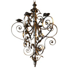 Late 19th Century Italian Iron Chandelier