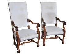 Pair of Late 19th Century French Louis XIII Style Armchairs