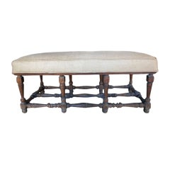 French Louis XIII Style Ottoman/Bench