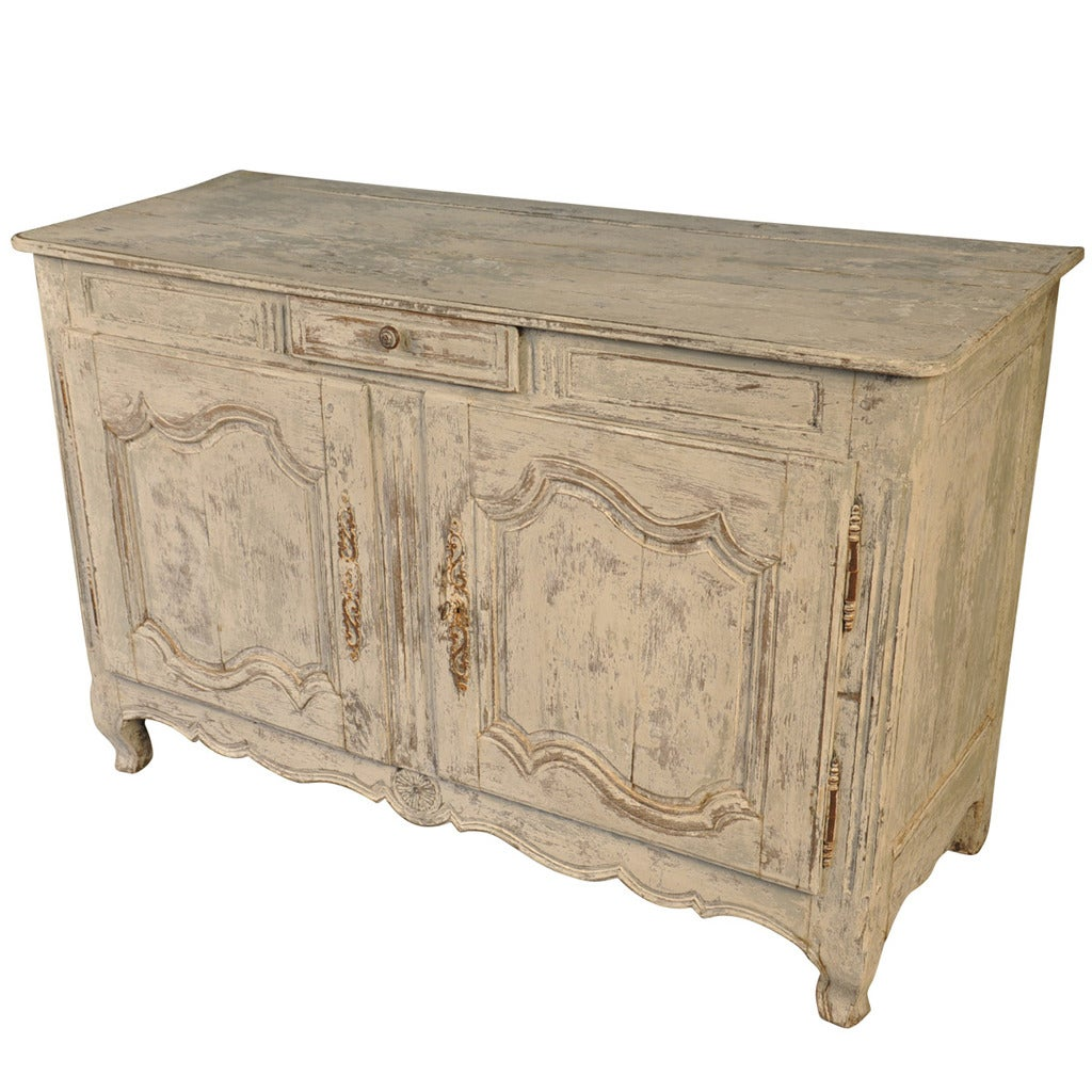 Century French Provencal Buffet In Painted Wood For Sale At 1stdibs. Full resolution‎  photograph, nominally Width 1024 Height 1024 pixels, photograph with #8F653C.