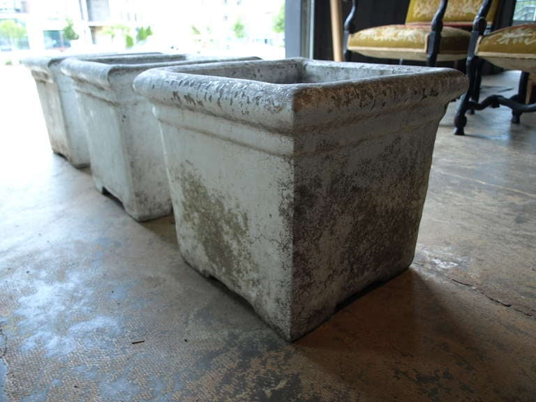 Mid Century Concrete Planters At 1stdibs