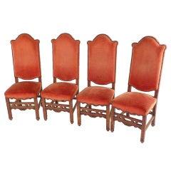 Set of Four Italian Chairs in Oak