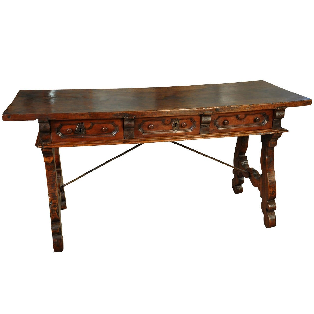 Early 18th century spanish console table with solid board for Table in spanish