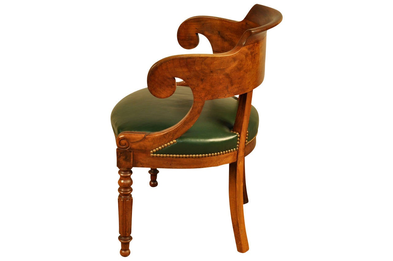 French Louis Philippe Period Office Chair Or Desk Chair In