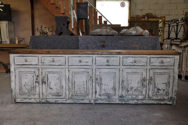 Spanish antique 19th century large painted wood buffet at 1stdibs