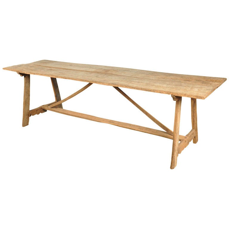 19th Century Spanish Farm Table in Washed Oak at 1stdibs : 1226410l from www.1stdibs.com size 768 x 768 jpeg 25kB