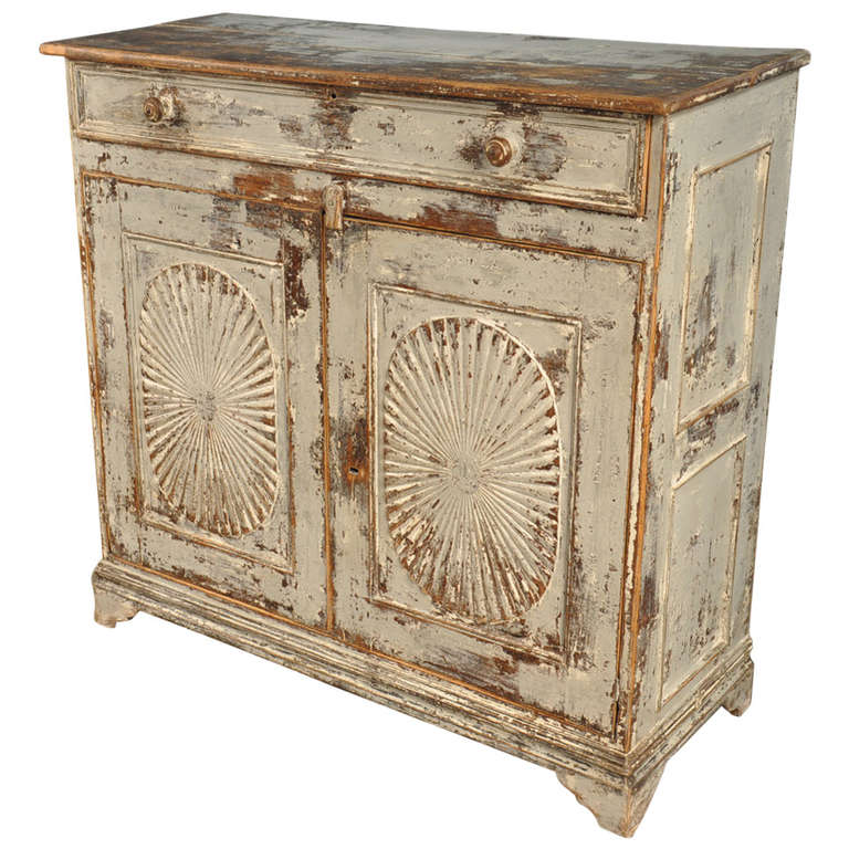 early 19th century spanish haut buffet in painted wood at 1stdibs. Black Bedroom Furniture Sets. Home Design Ideas