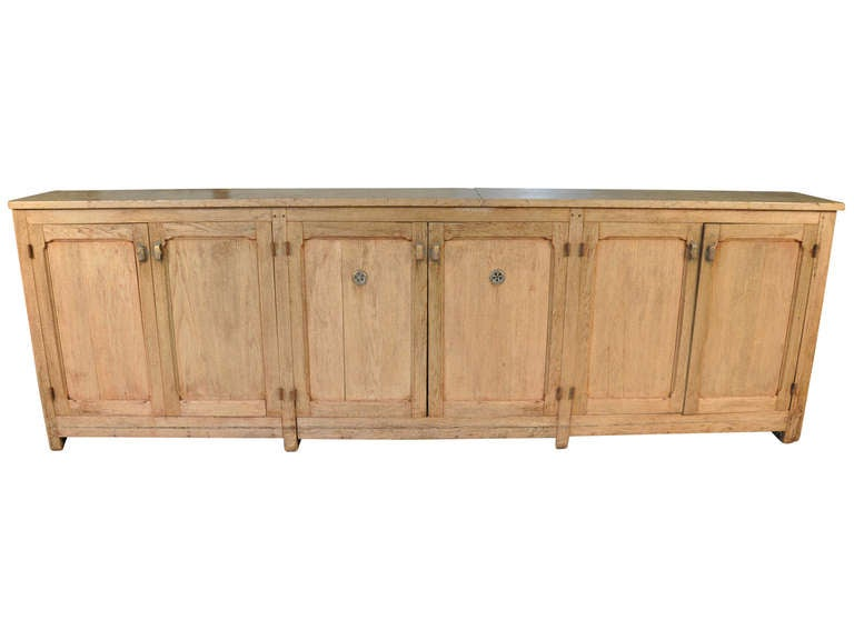 french comptoir fond de bar bar back counter in bleached oak at 1stdibs. Black Bedroom Furniture Sets. Home Design Ideas