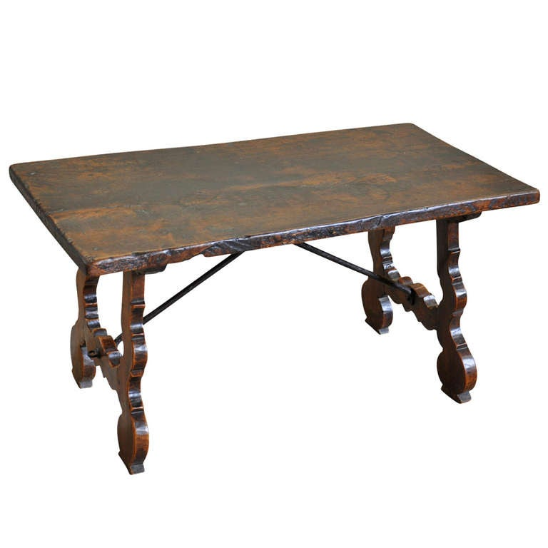spanish mid 19th century coffee table/bench in walnut at 1stdibs