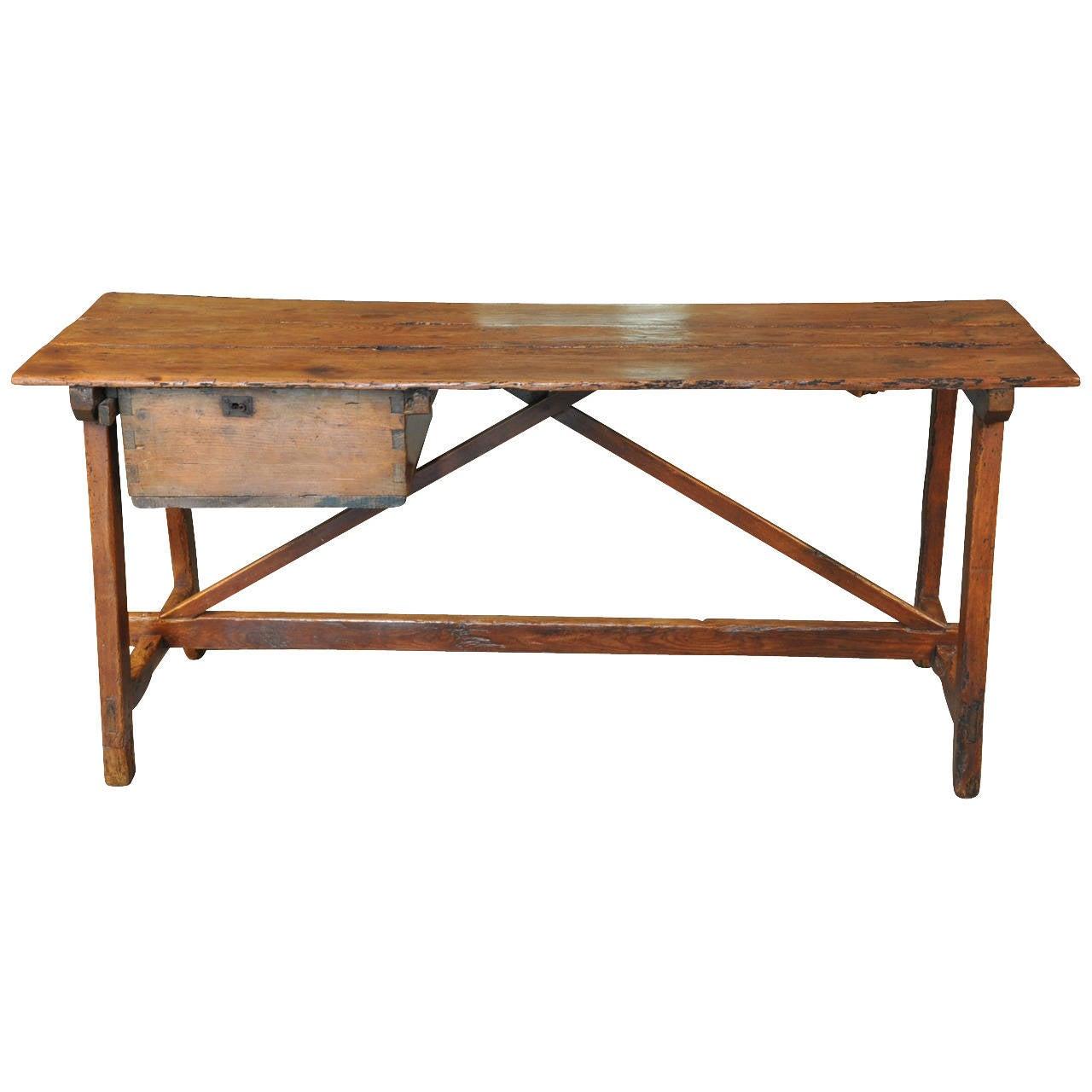 Mid 19th Century Primitive Spanish Work Table At 1stdibs