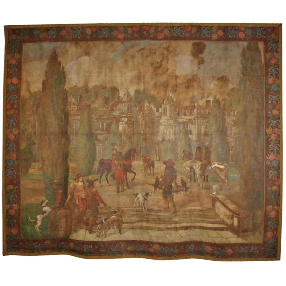 Early 19th Century Flemish Tapestry Study