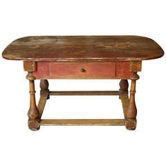 18th Century Gustavian Period Painted Farmhouse Table