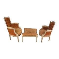 "French Antique Louis XVI Style ""Duchesse Brisse"" Set"