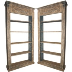 Pair of French Painted Wood Bookcases