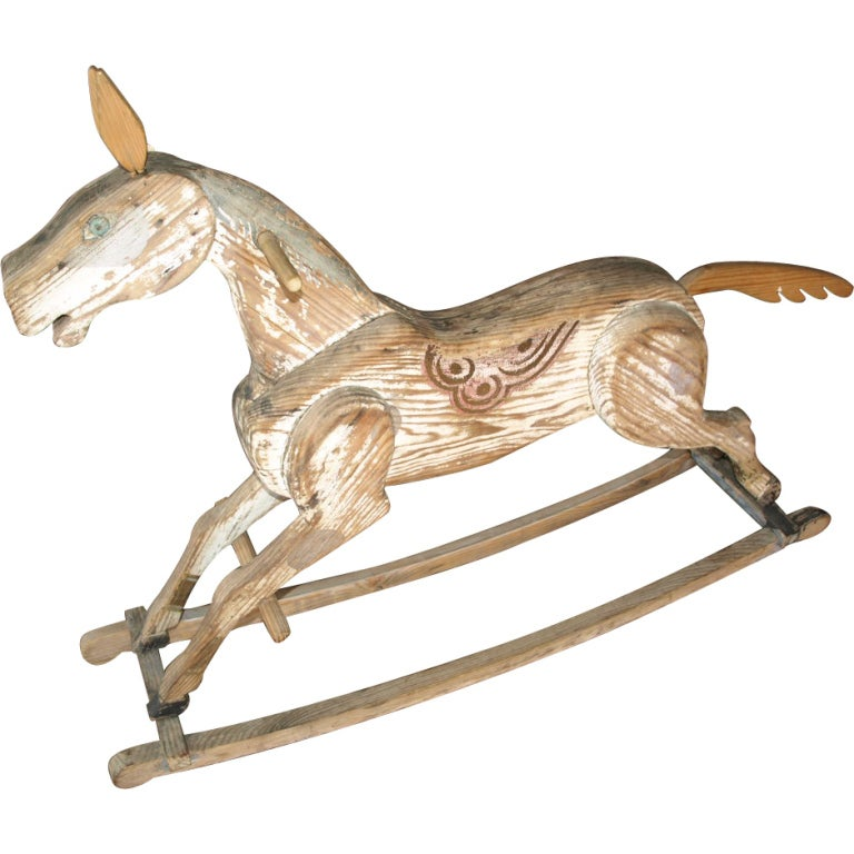 Rocking Horse in Painted Wood