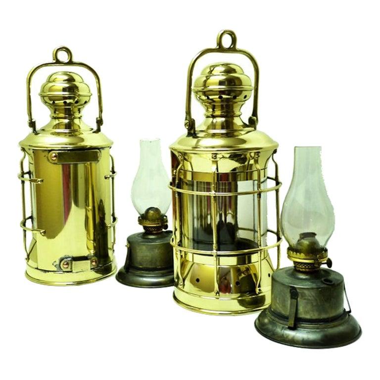 Antique Perko Navigation Lights Vintage Authentic Naval: Large Pair Antique Nautical WW I Perko Navy Bulkhead Oil