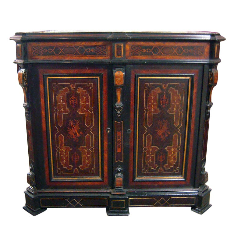 American Renaissance Revival Cabinet New York Herter