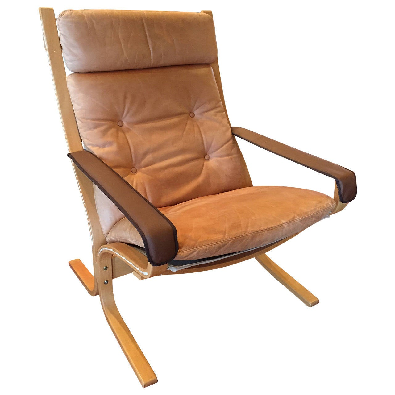 Ingmar Relling High Back Leather Siesta Chair At 1stdibs