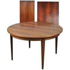 Expandable Rosewood Dining Table by Gunni Oman