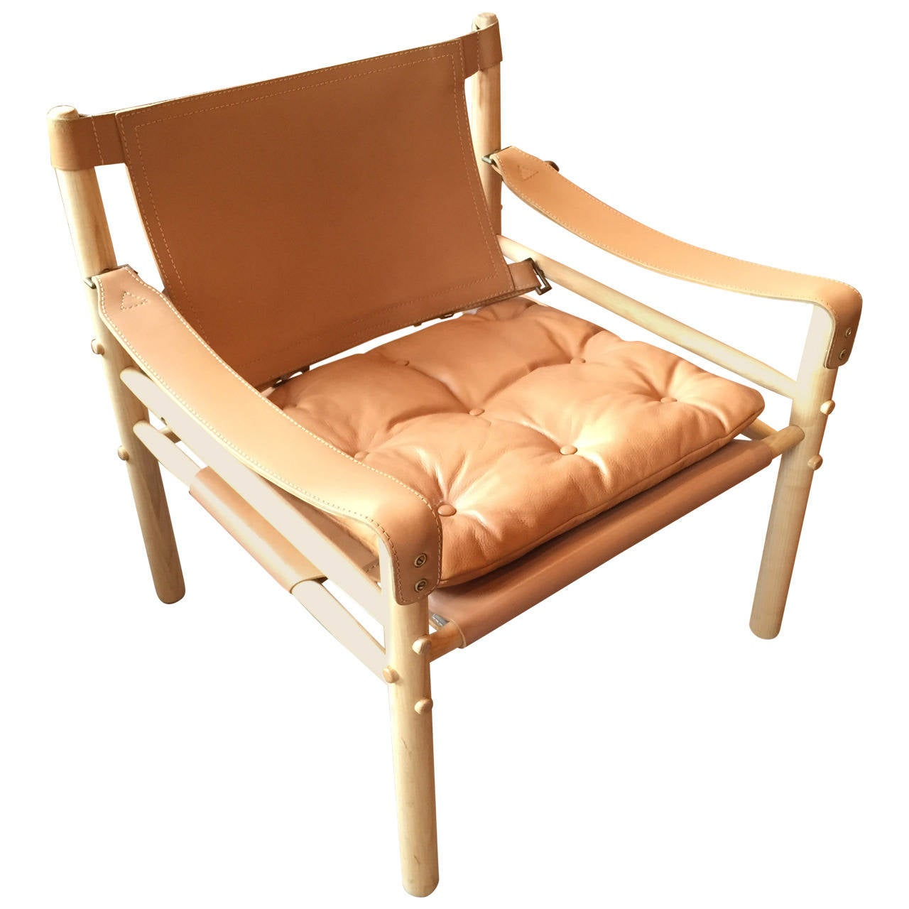 Arne Norell Leather Safari Lounge Chair At 1stdibs
