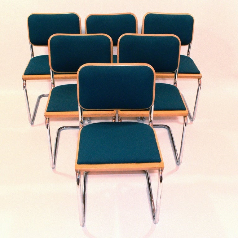 6 Cesca Chairs By Marcel Breuer At 1stdibs