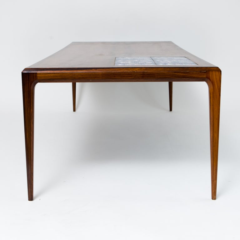 Johannes Andersen Coffee Table With Tiles At 1stdibs