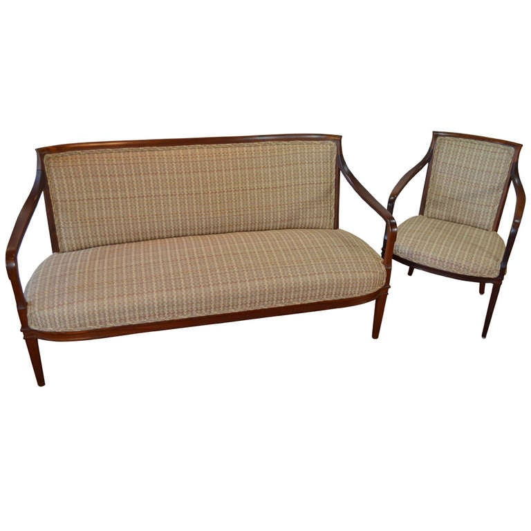 Carl malmsten sofa and armchair set at 1stdibs Carl malmsten sofa