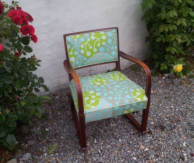 Vintage Fritz Hansen Rocking Chair For Sale At 1stdibs