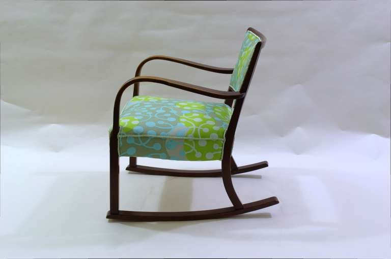 Vintage Fritz Hansen Rocking Chair For Sale At 1stdibs