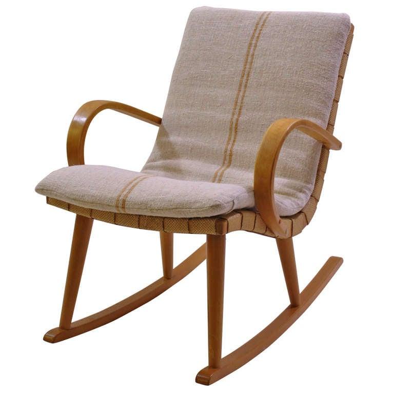 Swedish Rocking Chair c.1940s at 1stdibs