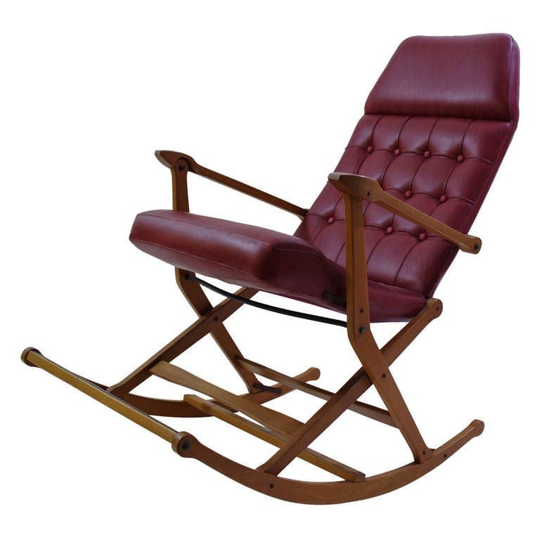 Agnosine Folding Rocking Chair By Fratelli Regiutti At 1stdibs