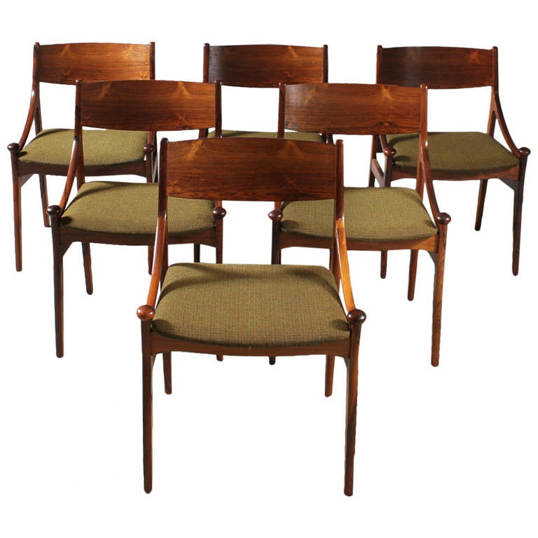 1960s H. Vestervig Brazilian Rosewood Dining Chairs At 1stdibs