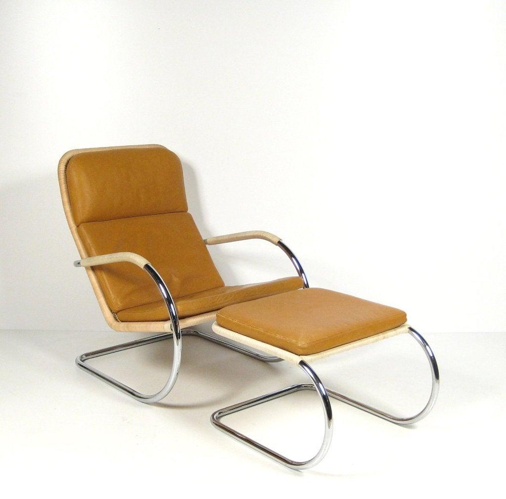 Vintage Anton Lorenz Recliner And Footrest For Sale At 1stdibs