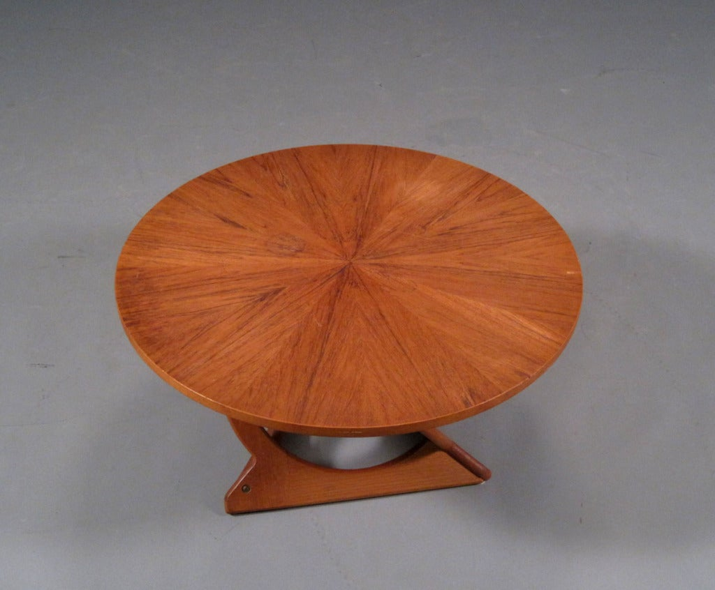 Round Teak Coffee Table by Søren Georg Jensen image 4