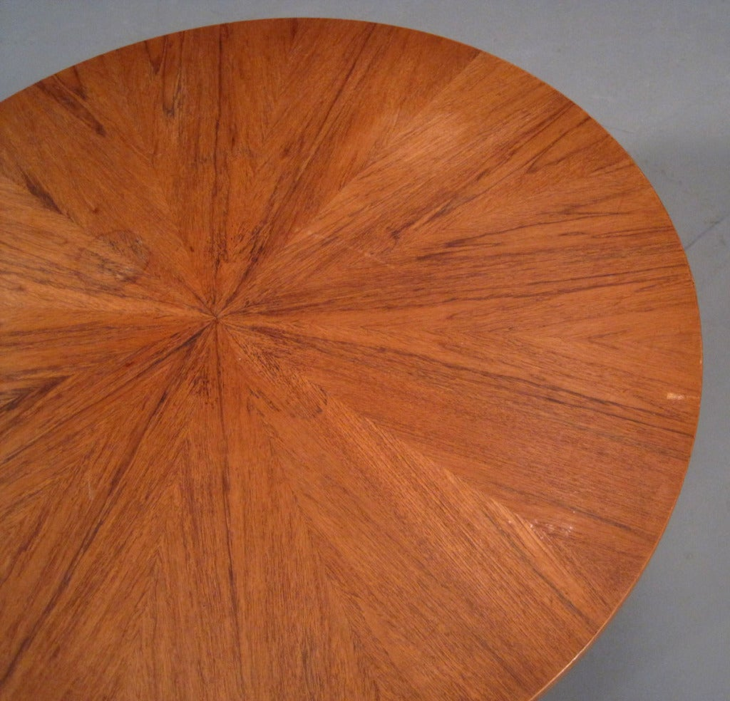 Round Teak Coffee Table by Søren Georg Jensen image 6