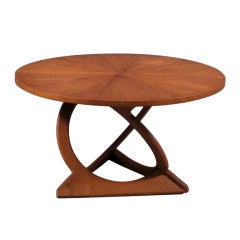 Round Teak Coffee Table by Søren Georg Jensen thumbnail 1