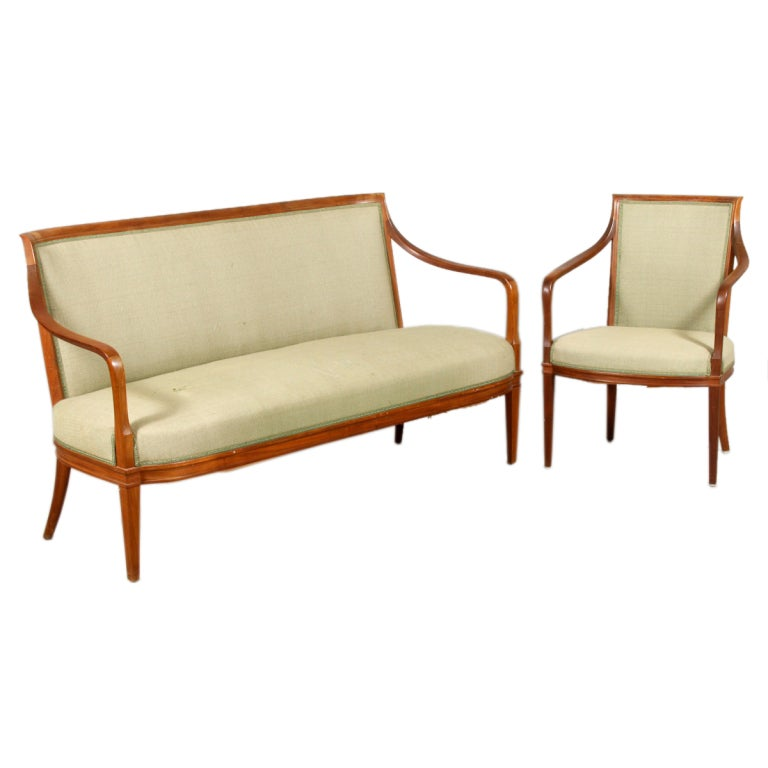Sofa and easy chair by carl malmsten at 1stdibs Carl malmsten sofa