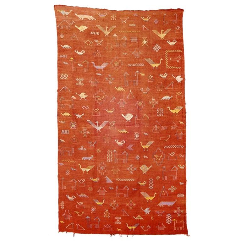 Soumak Wall Rug South Caucasus Silk For Sale At 1stdibs