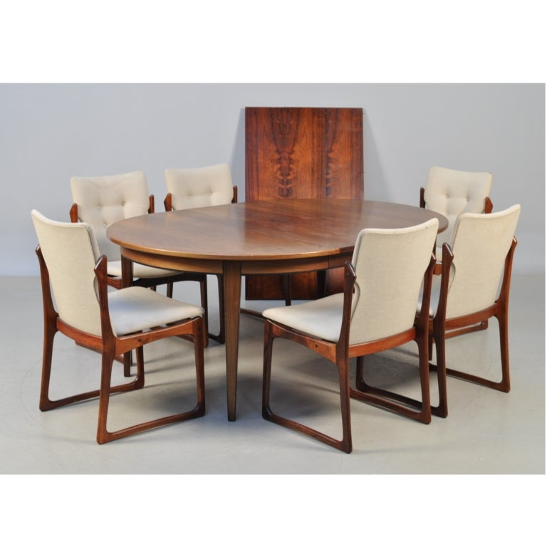 Rosewood Dining Set By Gunni Omann At 1stdibs