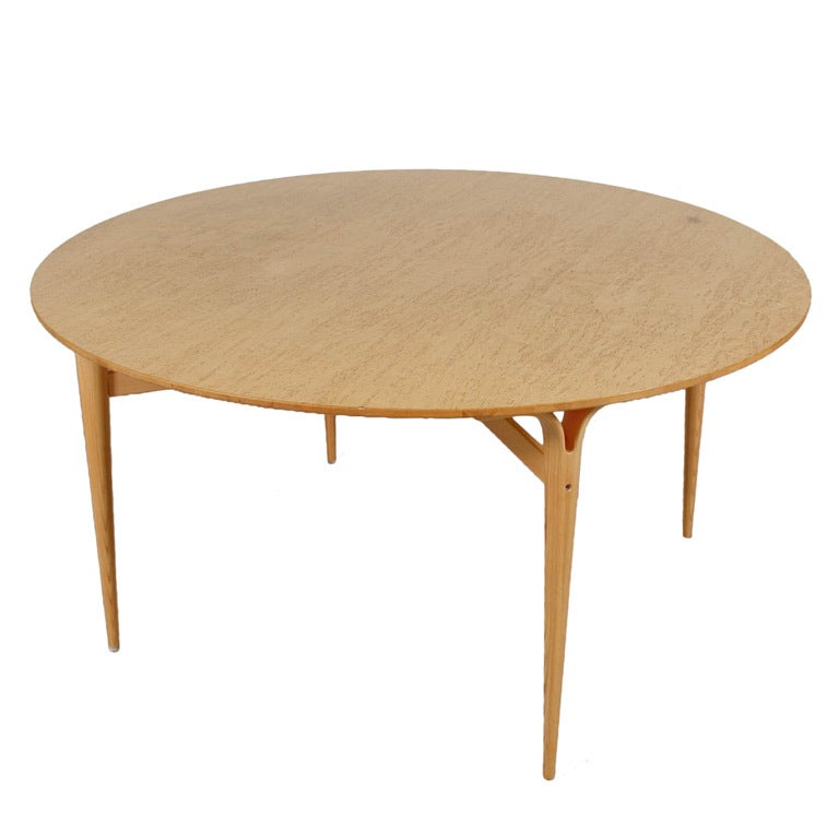 round dining table by bruno mathsson for dux for sale at