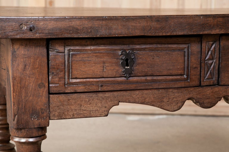 Rustic Antique Louis Xiv Table At 1stdibs