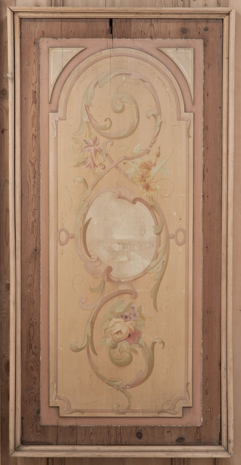 Antique Wood Paneling For Walls: Antique French Painted Wall Panel At 1stdibs