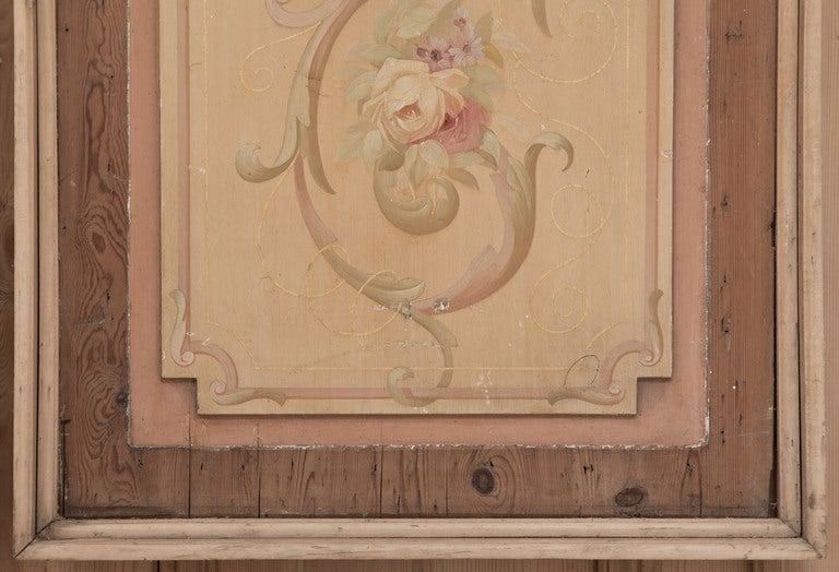 French Wall Covering : Antique french painted wall panel at stdibs