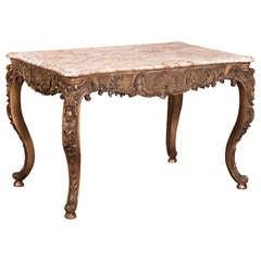 Antique French Regence Gilded Center Table