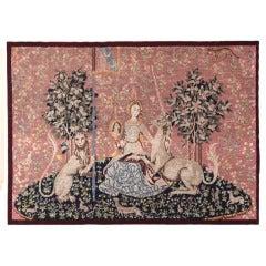 Antique Framed Needlepoint Tapestry
