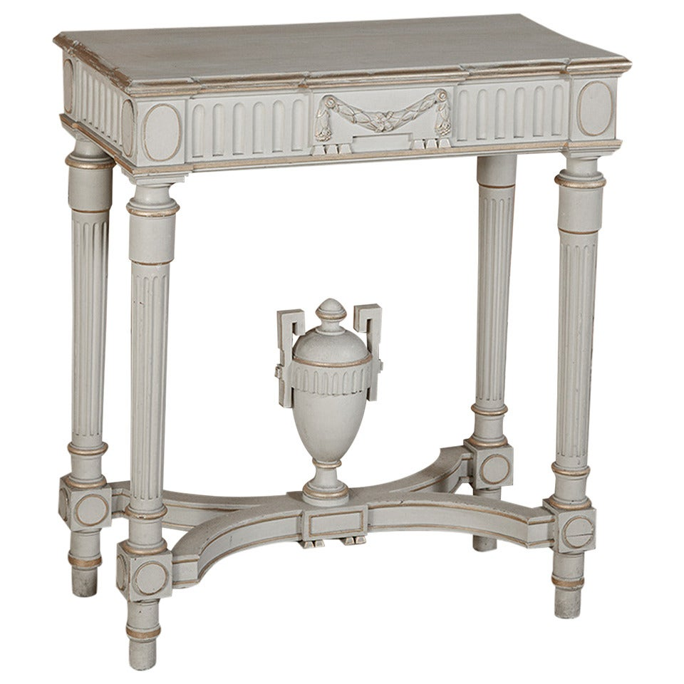 Louis xvi painted console table at 1stdibs for Painted foyer tables