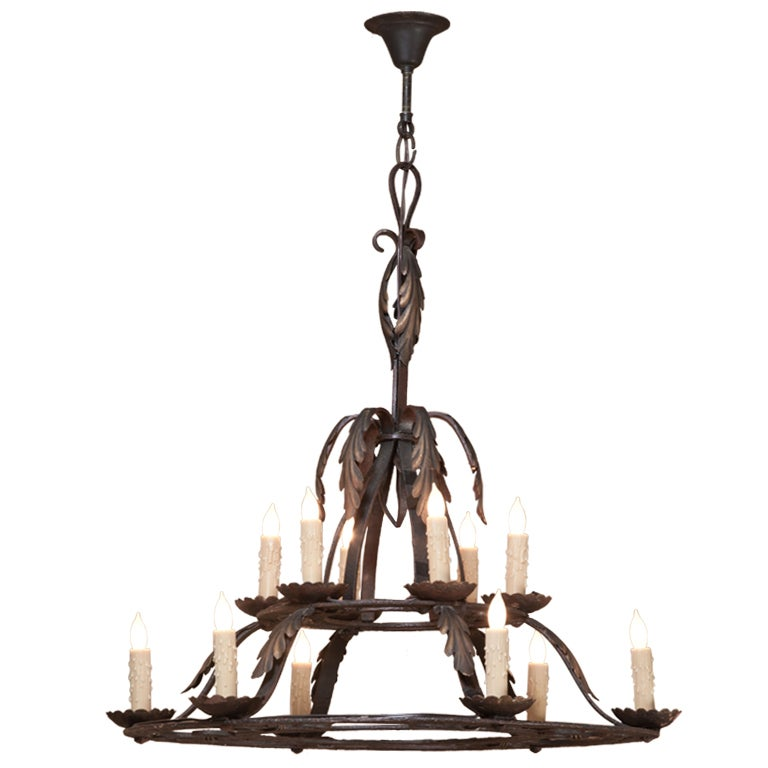 Vintage wrought iron provincial chandelier at 1stdibs - Classic wrought iron chandeliers adding more elegance in the room ...